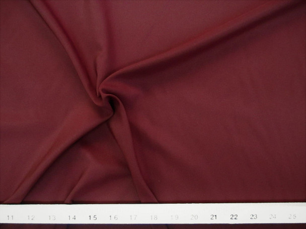 Discount Fabric Challis Apparel Top Weight Solid Burgundy Soft and Flowing 19CH