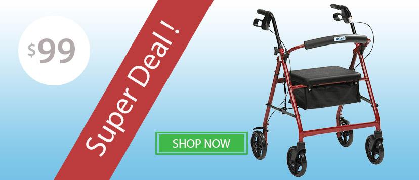 "Mobility Walker Drive Lightweight 8"" Wheels Suits Indoor & Outdoor Use"