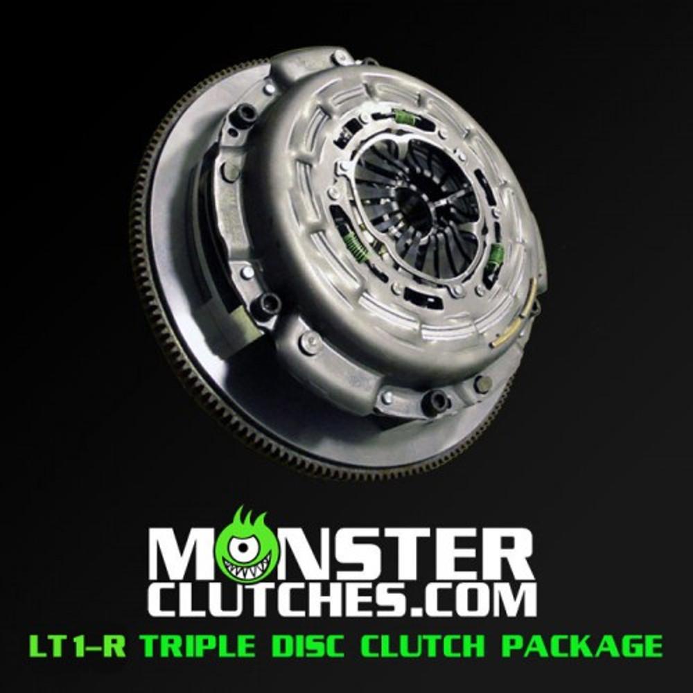 Monster LT1-R Triple Disc Clutch and Flywheel Package (Torque Capacity: 1800RWTQ)