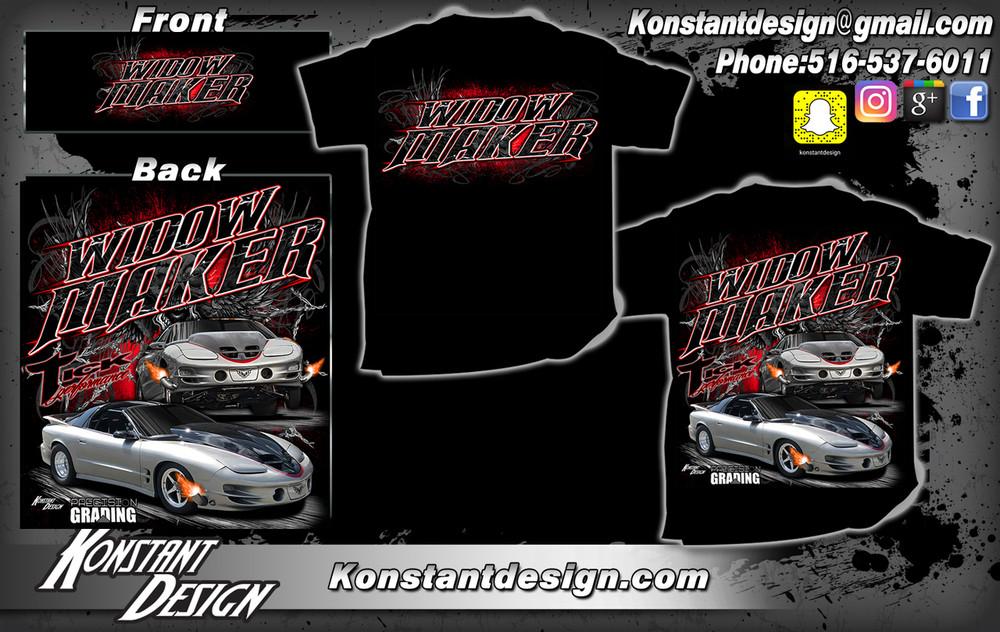 PREORDER: Tick Performance WIDOW MAKER Trans Am T-Shirt, Black