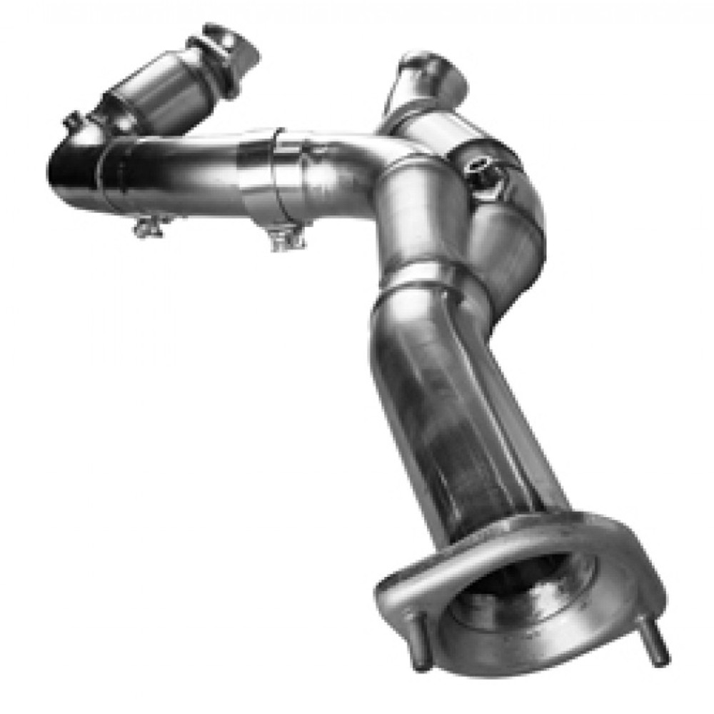 """Kooks 3"""" x OEM Catted Y-Pipe for 2007-2008 4.8/5.3 GM Full Size Truck & SUV #28533200"""