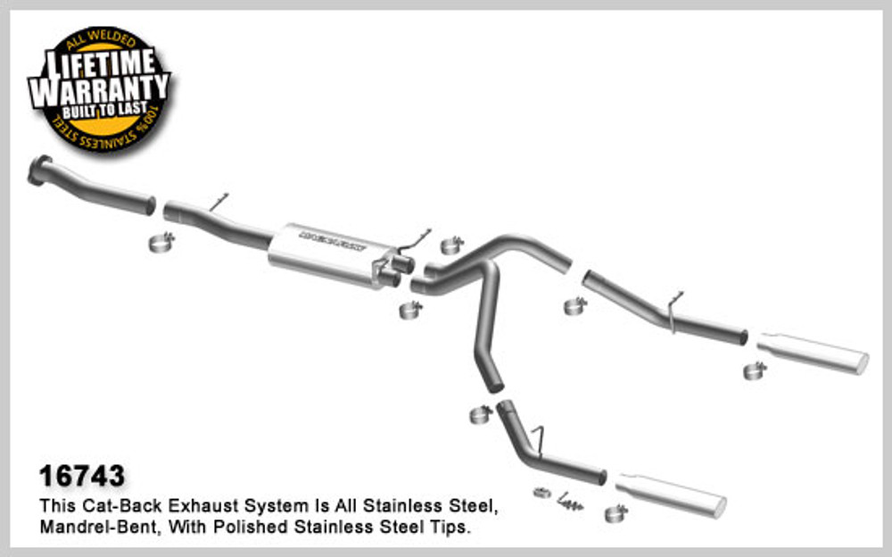 Magnaflow Stainless Steel Cat-Back System for 2007-2008 Chevrolet  Silverado/Sierra 1500