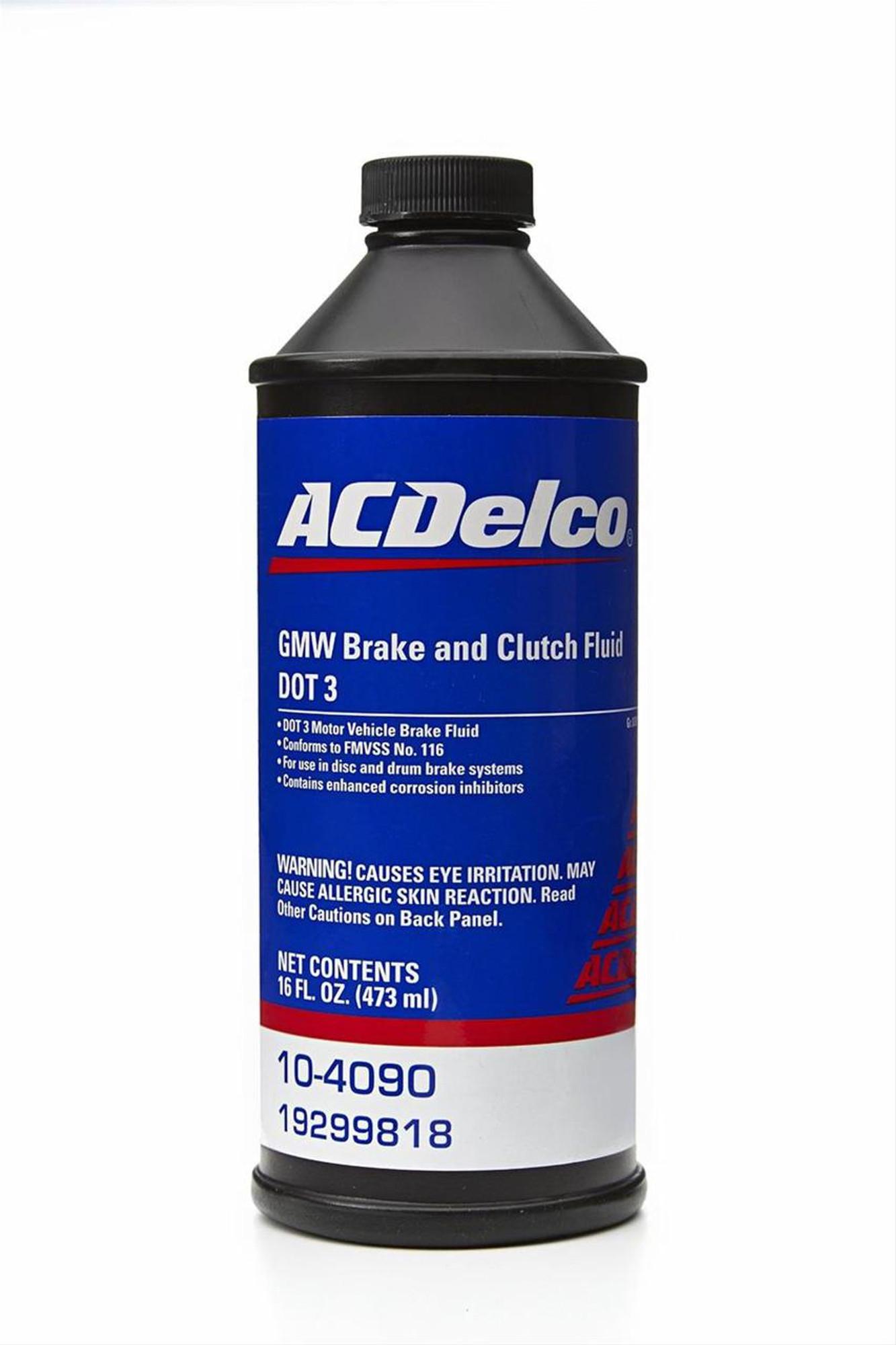 Gm Ac Delco Dot 4 Brake Clutch Fluid 8oz Tick