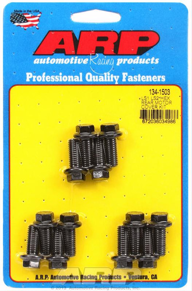 ARP Hex Rear Motor Cover Bolt Kit for LS Engines, Part #134-1503