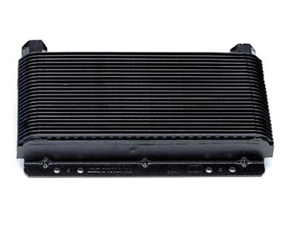 """B&M Racing Transmission Cooler, 11"""" x 5-3/4"""" x 1-1/2"""" with 1/2"""" NPT fittings"""