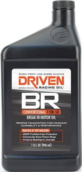 Joe Gibbs DRIVEN BR Break-In Motor Oil, 15W-50, Quart, Part #00106