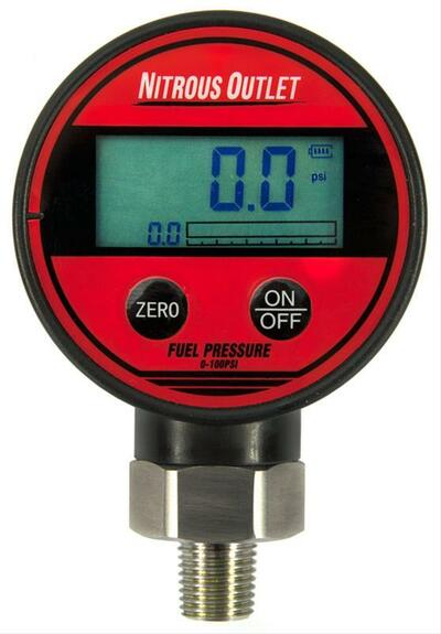 Nitrous Outlet Digital Flowing Fuel Pressure Test Gauge, Part #00-63010