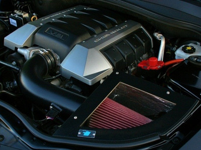 Cold Air Inductions Intake System (Black Textured Powder Coated) for 2010-14 Camaro SS