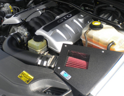 Cold Air Inductions Intake System (Black Textured Powder Coated) for 2004 GTO (LS1)