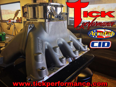 CID MANIFOLD FITTED WITH ACCUFAB FOUR BARREL FOR YOUR LSX ENGINE!!!!!