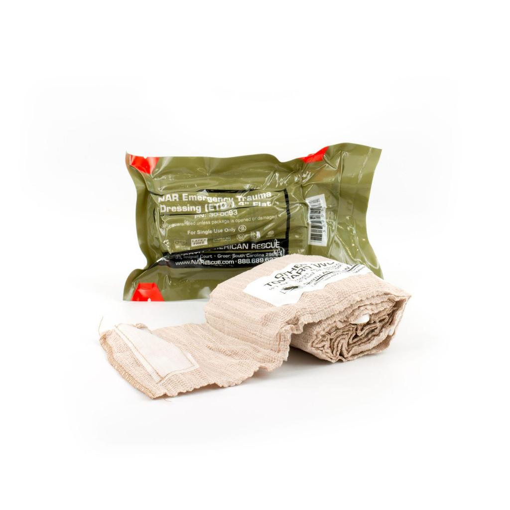 "ETD (Emergency Trauma Dressing) 4"" Flat Pack"