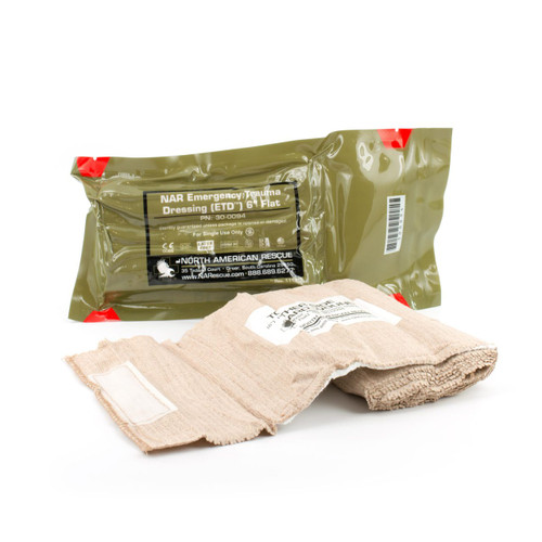 "ETD (Emergency Trauma Dressing) 6"" Flat Pack"
