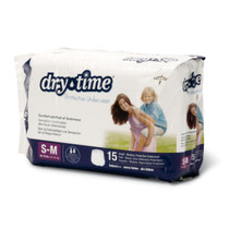 Medline MSC23003A DryTime Disposable Protective Youth Underwear (Pack of 12),LARGE/X-Large,60-125 CS 48/CS