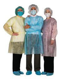 AMD A8009 PKG/10 ISOLATION GOWN REGULAR, YELLOW