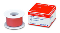BSN-7235906 BX/12 LEUKOPLAST SLEEK LATEX FREE ZINC OXIDE PLASTIC WATERPROOF TAPE 2.5CM X 3M, ROLLS