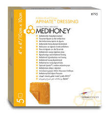 Derma Sciences 795 MEDIHONEY®  Antibacterial Honey Apinate™ Dressing , SIZE 10CM X 10CM, BX/5