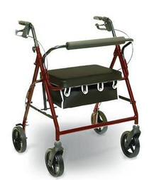 Invacare 1033 BARRIATRIC ROLLATOR, BURGUNDY, WEIGHT MAX 400LBS (ISG 1033)