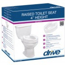 """Drive Medical 12062 Raised Toilet Seat 2"""" without Lid (12062)"""