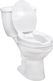 """Drive Medical 12063 Raised Toilet Seat 2"""" with Lid (12063)"""