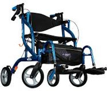 Airgo 700-935 Fusion Side-Folding Rollator & Transport Chair - Pacific Blue