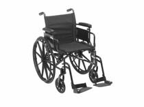 Drive CX418ADFA-ELR Cruiser X4 Wheelchair Lightweight, Dual-Axle Wheelchair