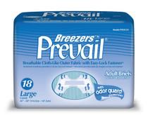 """Brief Prevail Breezers Large 45"""" - 58"""" waist 12/pkg 6pkg/Case"""