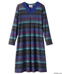 Silvert's 210200203 Stylish Wheelchair Dress For Women , Size Large, TEAL