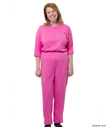 Silvert's 233100102 Womens Adaptive Alzheimer's Anti Strip Jumpsuits , Size Small, FUSCHIA