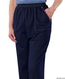 Silvert's 240900102 Adaptive Jean Pants For Women, Open Side Super Soft Stretch Denim Pant, Size Medium, DENIM
