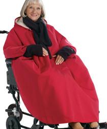 Silvert's 270000201 Mens Winter Wheelchair Cape & Womens Winter Warm Wheelchair Cape Clothing , Size ONE, RED