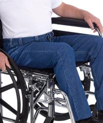 Silvert's 410500103 Mens Wheelchair Jeans , Size 32, DENIM