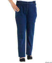 Silvert's 470100103 Womens Easy Access Zipper Front Jeans By Designer Izzy Camilleri , Size Large, DENIM