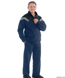 Silvert's 505500203 Mens Quality Tracksuits / Sweatsuit , Size Large, NAVY