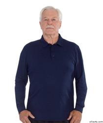 Silvert's 506900102 Mens Polo Shirt , Size Medium, NAVY