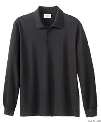 Silvert's 506900202 Mens Polo Shirt , Size Medium, BLACK
