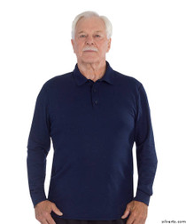 Silvert's 506900103 Mens Polo Shirt , Size Large, NAVY