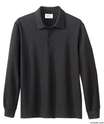 Silvert's 506900203 Mens Polo Shirt , Size Large, BLACK