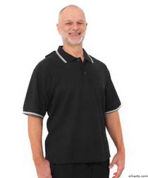 Silvert's 507100402 Adaptive Clothing Men , Size Medium, BLACK