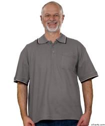 Silvert's 507100303 Adaptive Clothing Men , Size Large, SMOKE GREY
