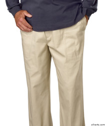 Silvert's 507900202 Full Elastic Waist Pants For Men , Size Small, TAUPE