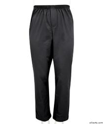 Silvert's 507900303 Full Elastic Waist Pants For Men , Size Medium, BLACK