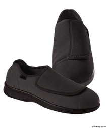 Silvert's 509900105 Mens Stretch Shoe With Adjustable Strap , Size 7, BLACK