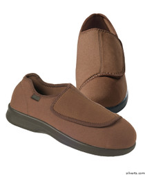 Silvert's 509900207 Mens Stretch Shoe With Adjustable Strap , Size 8, BROWN