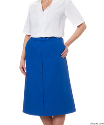 Silvert's 131300107 Womens Regular Elastic Waist Skirt With Pockets , Size 16, COBALT