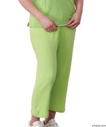 Silvert's 131600105 Womens Arthritis Elastic Waist Pull On Capris Pants, Size X-Large, APPLE