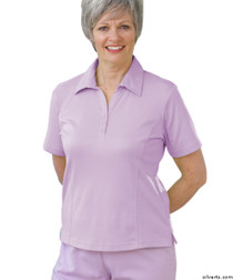 Silvert's 135100303 Womens Regular Popular Polo, Size Large, LAVENDER