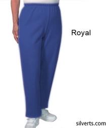 Silvert's 141200303 Regular Fleece Tracksuit Pants For Women , Size Medium, ROYAL