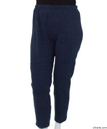 Silvert's 141200204 Regular Fleece Tracksuit Pants For Women , Size Large, NAVY