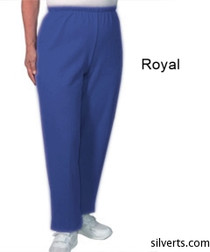 Silvert's 141200304 Regular Fleece Tracksuit Pants For Women , Size Large, ROYAL