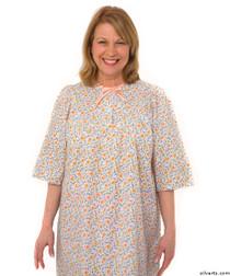 Silvert's 161300602 Womens Regular Short Cotton Sleepwear Nightgown , Size Small, CORAL